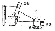 图1  暗室坐标系与跟踪仪位置示意图