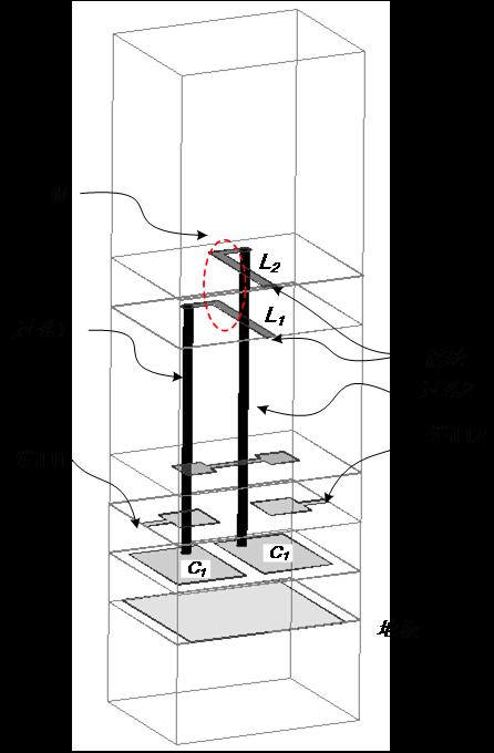 图 2 LTCC实现的两阶AIR模型图
